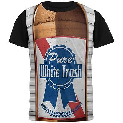 4th of July Halloween Pure White Trash Beer Costume Mens Black Back T Shirt