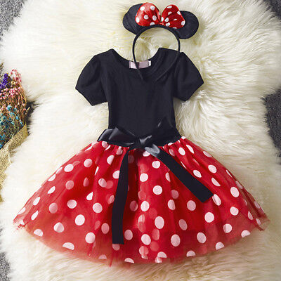 Minnie Mouse Costume For Toddlers (Minnie Mouse Toddler Girls Costume Party Clothes Fancy Tutu Dress For Baby)