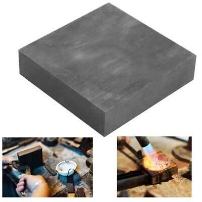 100x100x25mm High Purity Graphite Plate Block Electrode Heat Rectangle Sheet 1pc