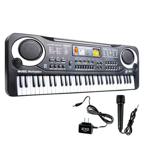 Quality 61 Key Digital Electronic Keyboard Microphone Electric LED Piano JN