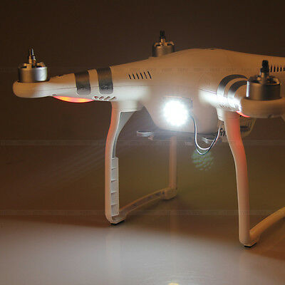 Professional Standard White RC Drone LED Camera Head Light For DJI Phantom 3