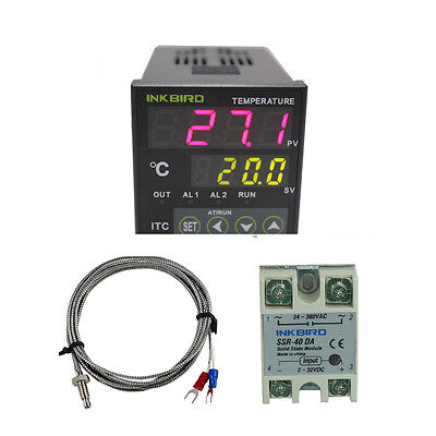 INKBIRD ITC-100VH PID Temperature Controller 40A SSR K thermocouple sensor temp