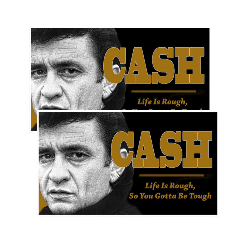 Johnny Cash Life Is Rough So You Gotta Be Tough Decals Pack Of Two