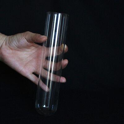 2 Pieces 43x200mm Chemistry Borosilicate Glass Culture Test Tubes Lab Glassware