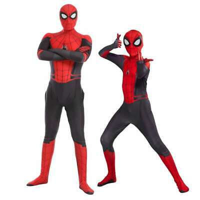 Spider-Man Far From Home Adult Kinder Peter Parker Zentai Cosplay Kostüm Suit