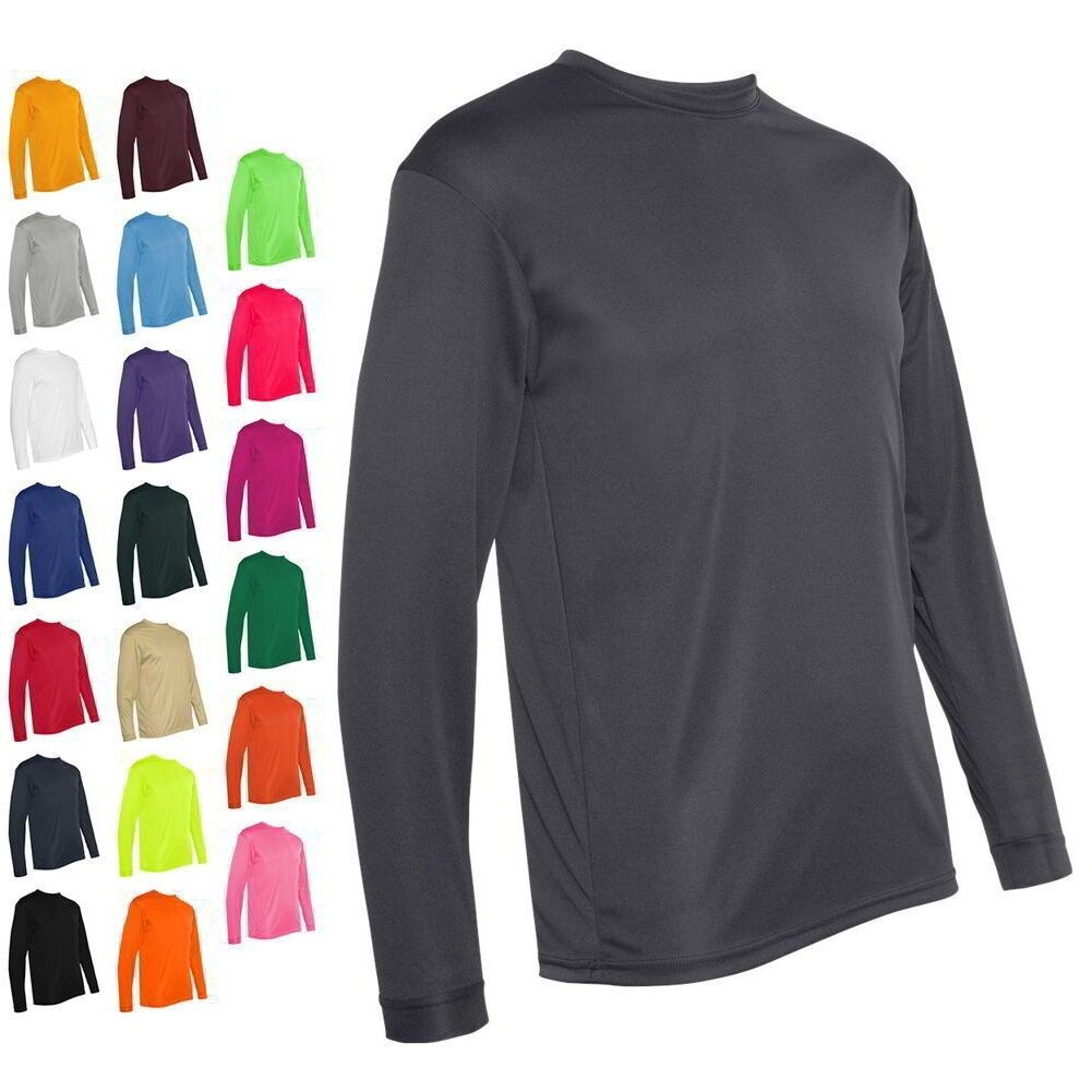 Long Sleeve Performance T-Shirts Mens sizes S-3XL Polyester  5104 New C2 Sport