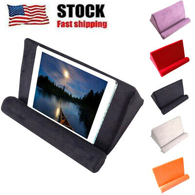 Portable Tablet Pillow Holder Support Sofa For iPad Reading Book Rest Stands USA