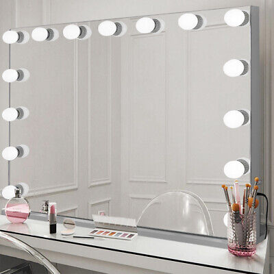 Glam Large 100cm Hollywood Mirror Makeup Vanity with 15 LED Bulbs Dimmable Light