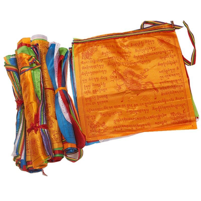 Tibetan Buddhist Prayer Flags Contain 10 Flags Decorative Scriptures Tibet Style