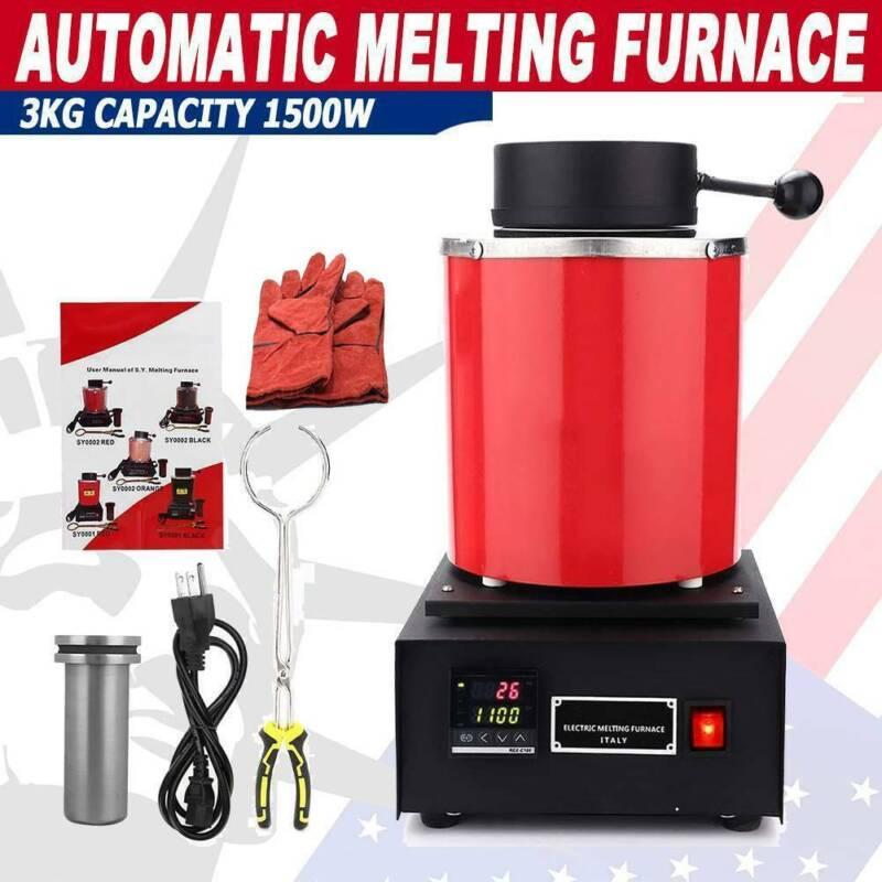 Automatic Melting Furnace Melt 1kg Silver & Gold Pour Bar Di