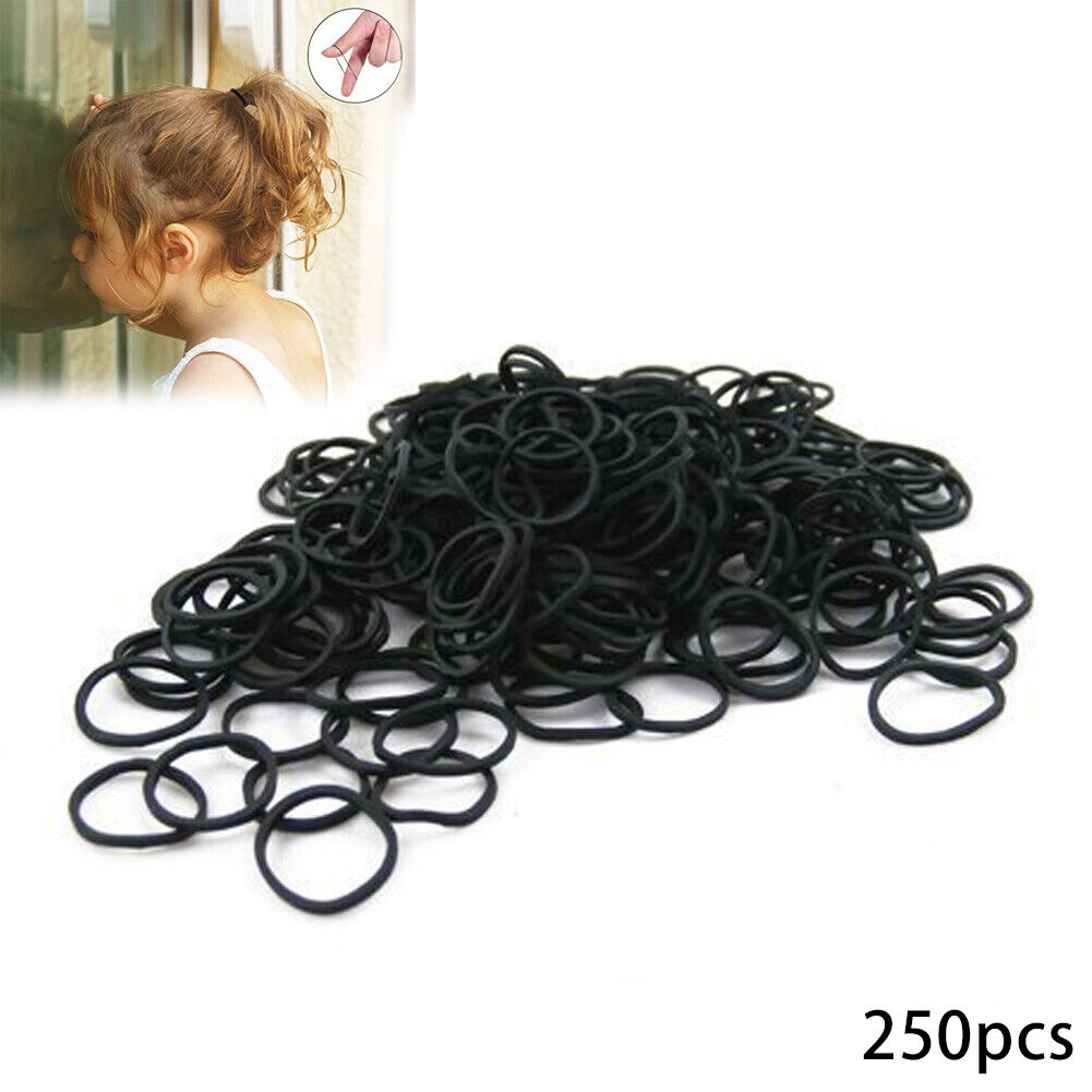 Poly Rubber Mini Clear Hair Elastic Rubber Bands Braids Braiding Plaits 250 pcs