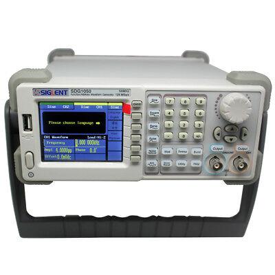 New Siglent Arbitrary Function Signal Generator Sdg1050 50mhz 125msas 16kpts 48