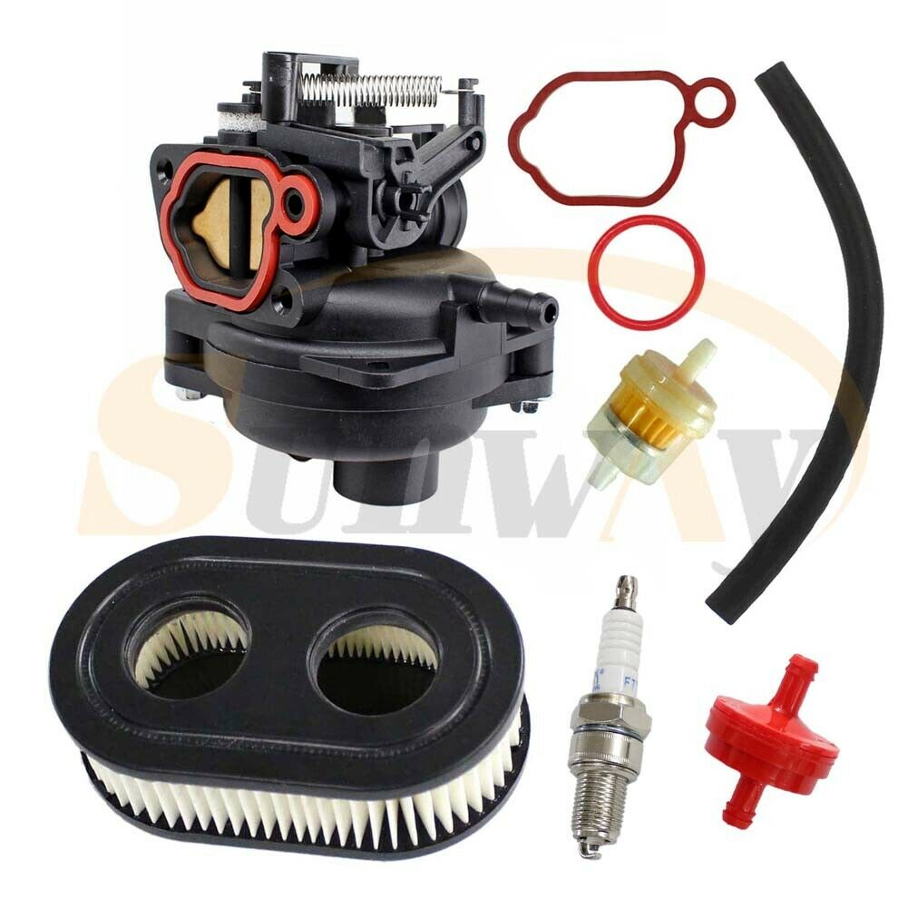 799584 Carburetor Fits Briggs /& Stratton 09P702 9P702 550EX 625EX 675EX 725 EXI 140cc Engines Carb with Air Filter Spark Plug Gasket Kit Lawn Mower Carburetor Replacement Parts