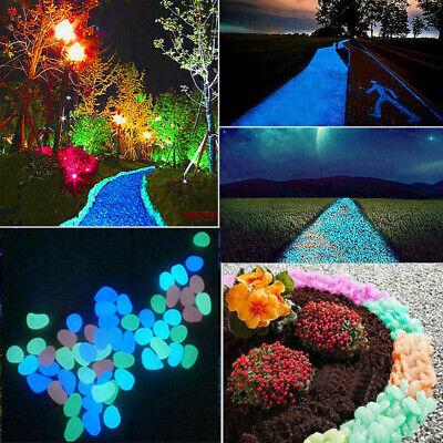 Fishing Decorations (100pcs Glow in The Dark Stones FISH TANK AQUARIUM Pebbles Rock Garden Road)