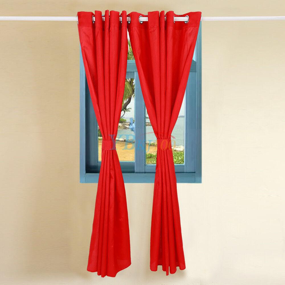 2x 165x183cm senschal sengardine vorhang deko schal fensterschal gardine rot eur 7 99. Black Bedroom Furniture Sets. Home Design Ideas