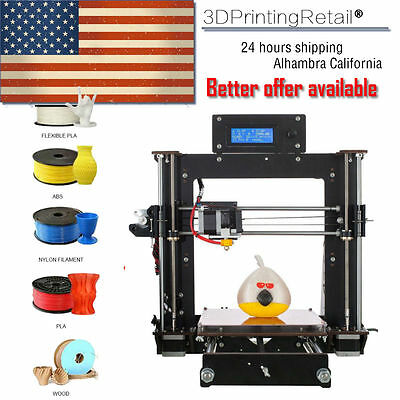 2018 3d Printer NEW Upgraded Complete Quality High Precision Reprap Prusa i3 DIY kit
