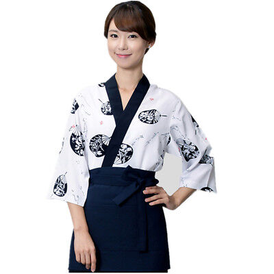 Japanese Sushi Chef Coat For Woman Small Uniform