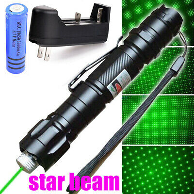 Upgraded 60 Miles Green Laser Pointer Pen Visible Beam Light Rechargeable Lazer