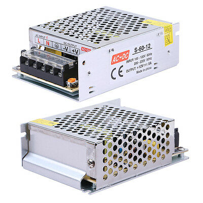 Ac To Dc 12v 5a 60w Regulated Switching Power Supply Adapter For Led Strip Light
