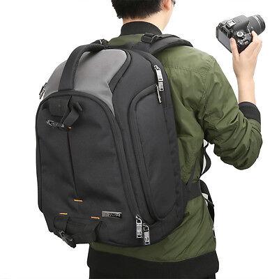 "Evecase DSLR Camera / Lens Kit Travel Backpack w 15.6"" Laptop Storage/Rain Cover"
