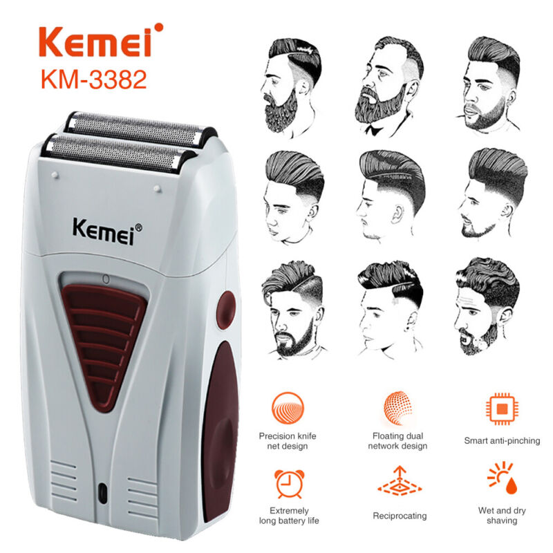 Men Electric Shaver Razor Beard Trimmer Hair Shaving Machine USB Rechargeable US