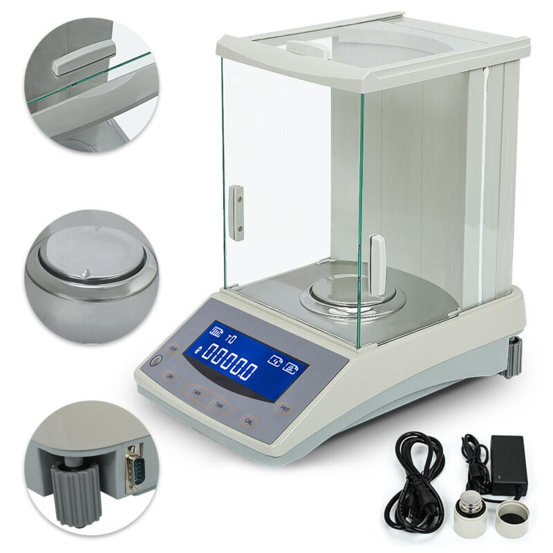 Analytical Balance 0.1 mg 200 x 0.0001g Lab Digital Precision Scale US Solid