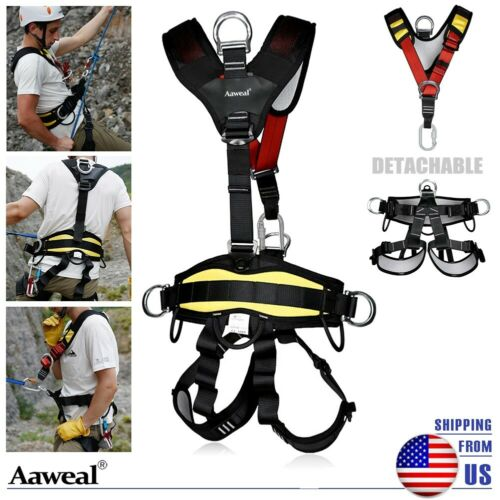 Half/Full Body Safety Rock Climbing Tree Harness Fall Protection Rappelling Belt