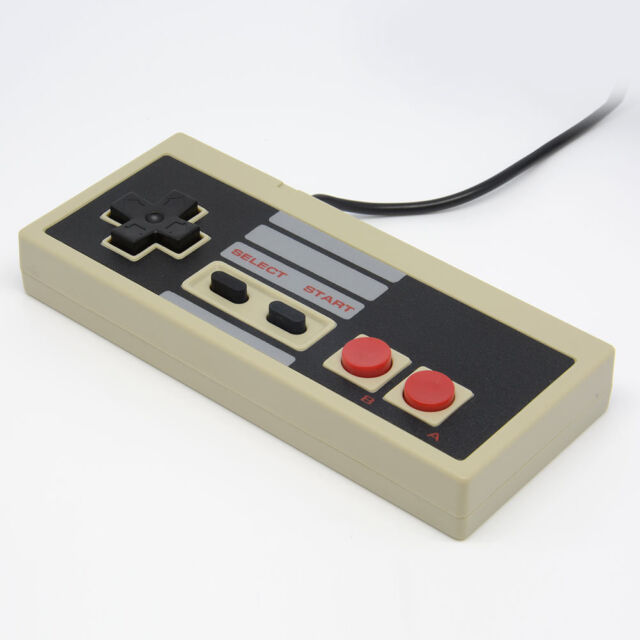 Hot 1x 8 Bit Game Gaming Controller For Nintendo NES Console Classic 6ft