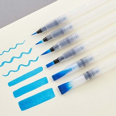 6pcs/Set Water Color Brush Refillable Pen Watercolor Color Drawing Art Supply - Brush Pen Set