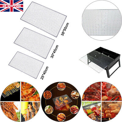 New BBQ Barbecue Grill Stainless Steel Replacement Mesh Wire Net Outdoor Cook UK