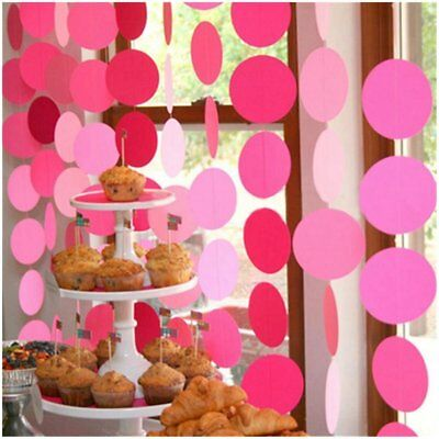 2xPaper Round Wedding Birthday Party Baby Kids Room Hanging Decorations Garlands](Wedding Room Decorations)