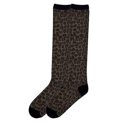 Leopard Knee High Socks - K. Bell Women's Knee High Socks Leopard Animal Print Novelty Footwear Tan