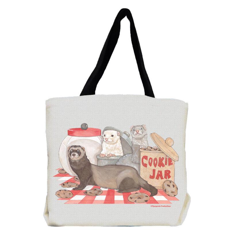 Ferret with Cookie Jar Tote Bag