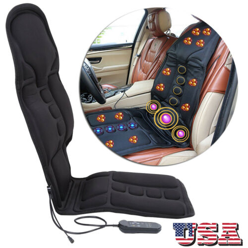 heated back massage seat cushion car chair