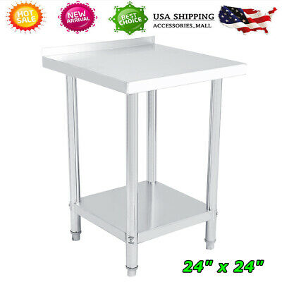 24 X 24 Work Table Food Prep Commercial Stainless Steel Kitchen Restaurant Hot