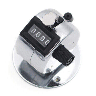 1 Unit 4 Digit Mechanical Tally Counter Desktop With Base Manual Clicker