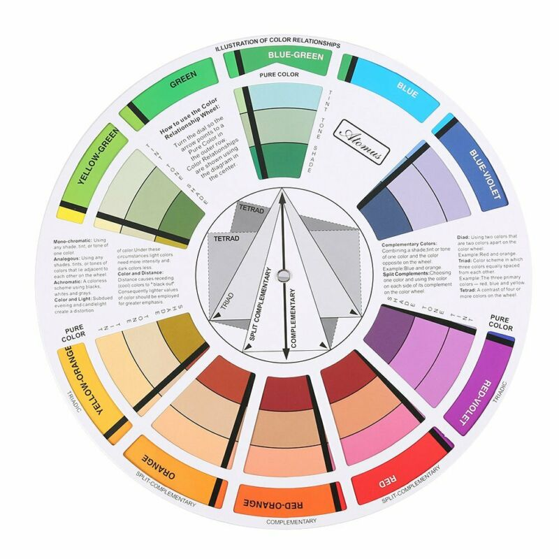 Makeup Color Chart Color Wheel Mix Color Wheel for Painting for Nail Art