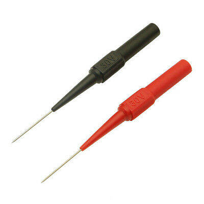2pcs Multimeter Test Lead Probe Extention Back Piercing Needle Tip Test Probes