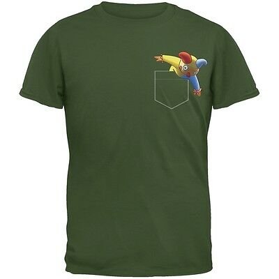Halloween Jack In The Box (Pocket Halloween Horror Jack-In-The-Box Military Green Adult T-Shirt)