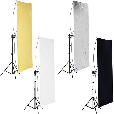 "35x70"" Photo Studio Gold/Silver & Black/White Flat Panel Reflector"