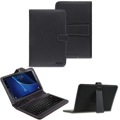 Samsung Galaxy Tab A6 10.1 Tastatur Tasche Keyboard Hülle Cover Schutzhülle Case