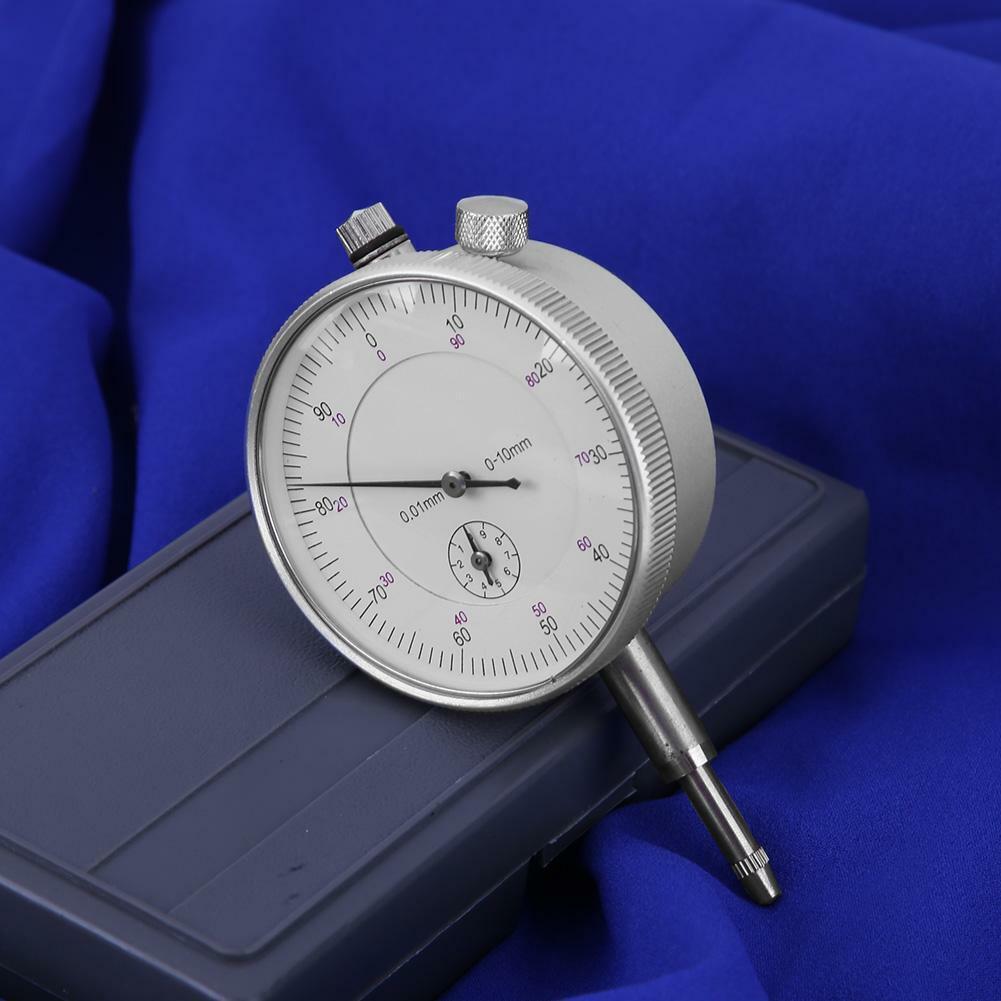 Precision Pointer Dial Indicator Gauge Measurement Tool 0-10mm 0.01mm Indicators