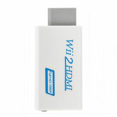 Neu 720p 1080p Full HD TV Nintendo Wii auf HDMI Adapter Konverter Stick Upskaler - 720p Hdtv Tv