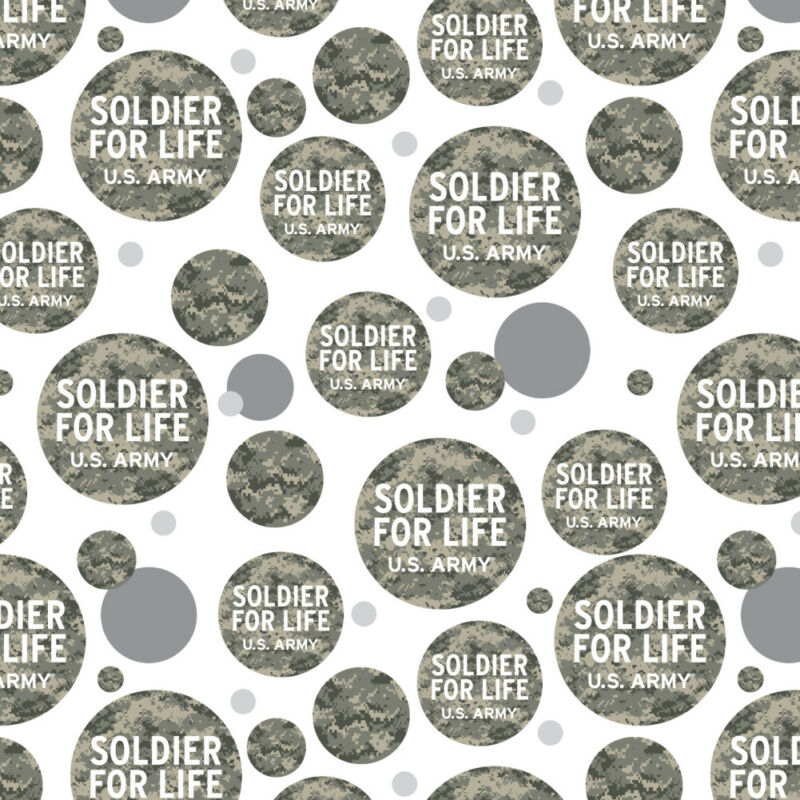 U.S. Army Soldier for Life Premium Gift Wrap Wrapping Paper Roll