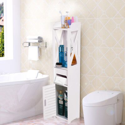Badezimmer Schrank (Badezimmerschrank Badschrank Hochschrank Badmöbel Schrank Modern in Weiß Hot)