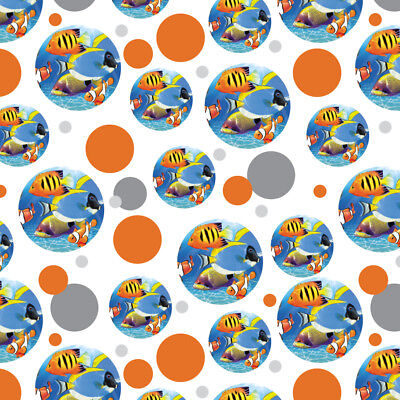 Tropical Coral Reef Fish Clown Premium Gift Wrap Wrapping Paper Roll