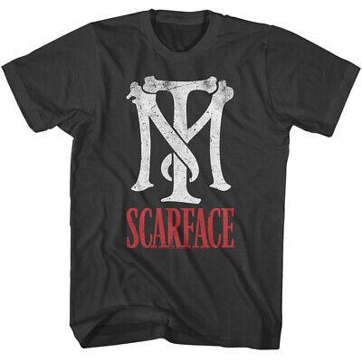 Scarface TM Logo T shirt Licensed Mob Mafia AL Pacino Tony Montana Tee Black