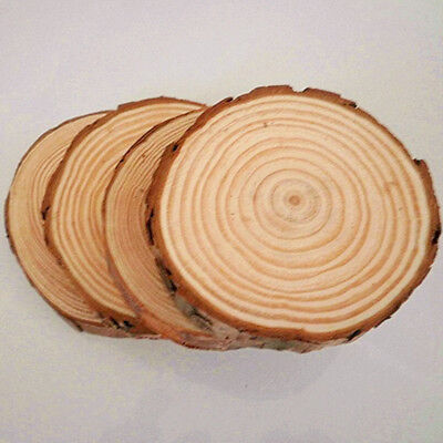 30pc Wood Wooden Circles Tree Slices For Easter Wedding DIY Craft Decor Supplies
