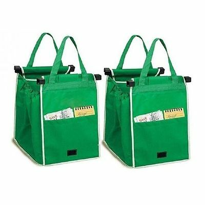 Reusable Shopping Bags Eco Foldable Trolley Tote Grocery Cart ...