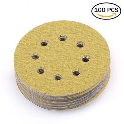 5in 80 Grit Sanding Discs Dustless Sander Sheet Orbital Sandpaper Hook and Loop
